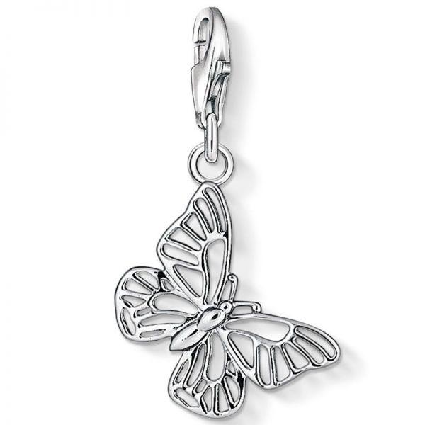Thomas Sabo 1038-001-12 Charm-Anhänger Schmetterling Sterling-Silber