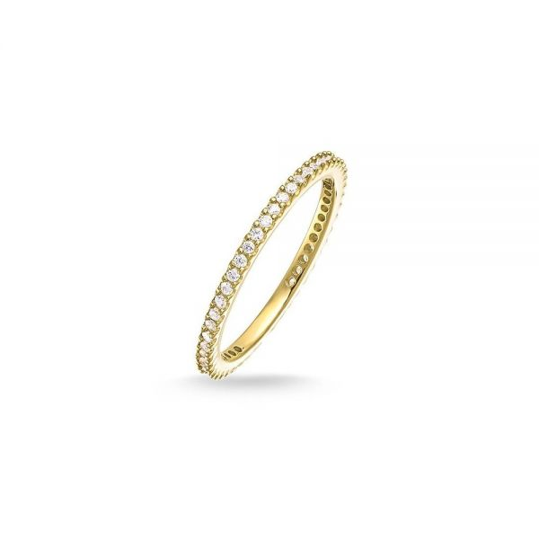Thomas Sabo TR1980-414-14 Ring Eternityring Pavé Sterling-Silber Gelb-Gold-18K