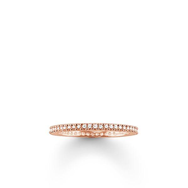 Thomas Sabo TR1980-416-14 Eternity-Ring Pavé Sterling-Silber Rosé-Gold-18K