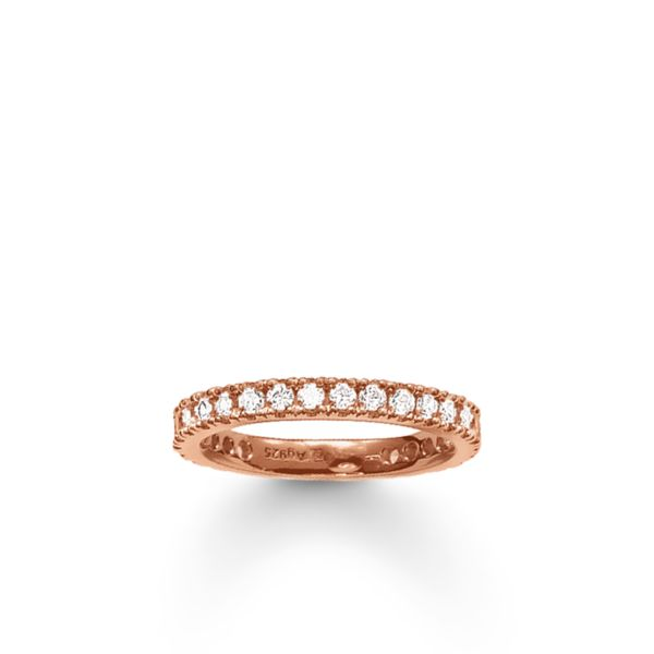 Thomas Sabo TR1981-416-14 Ring Eternity Pavé Sterling-Silber Rosé