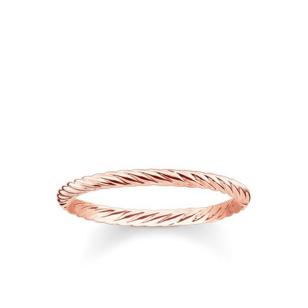 Thomas Sabo TR2121-415-12 Ring Damen Kordeloptik Rosé Vergoldet