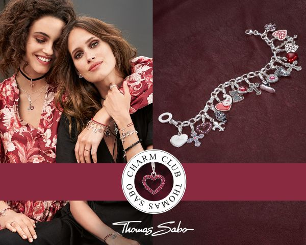 Thomas Sabo 0773-001-12 Charm-Anhänger Herzen Sterling-Silber