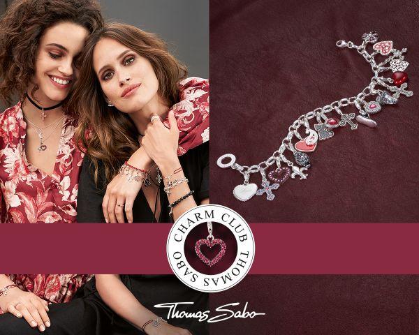 Thomas Sabo 0820-007-9 Charm-Anhänger Rosa Babyschuhe Silber