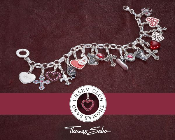 Thomas Sabo 0194-001-12 Charm-Anhänger Buchstabe T Sterling-Silber