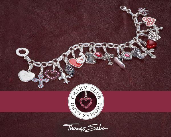 Thomas Sabo 0187-001-12 Charm-Anhänger Buchstabe M Sterling-Silber
