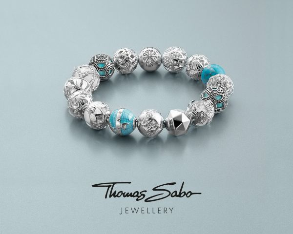 Thomas Sabo K0208-041-31  Karma Bead Fatimas Hand Blau Silber