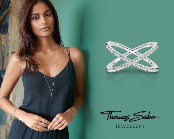 Thomas Sabo TR2121-001-12-52 Ring Damen Kordeloptik Sterling-Silber