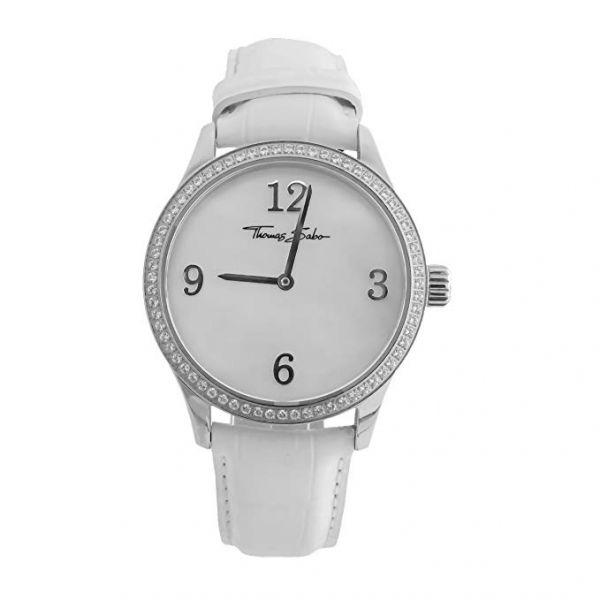 Thomas Sabo WA0045-215-202 Damen-Uhr Analog Quarz mit Leder-Band Ø 35 mm