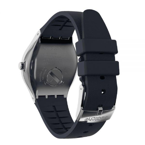 Swatch YWS102 Armband-Uhr Inkwell Analog Quarz Kautschuk-Armband
