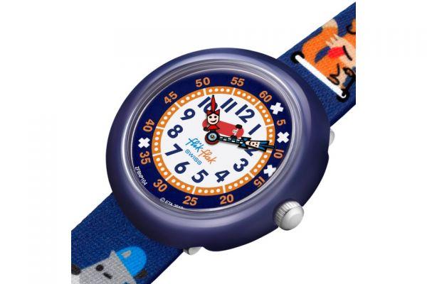 FlikFlak FBNP164 Jungen-Uhr Sk8fox Analog Quarz Textil-Armband