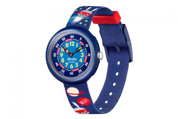 FlikFlak FBNP166  Jungen-Uhr Super Hopper Analog Quarz Textil-Armband