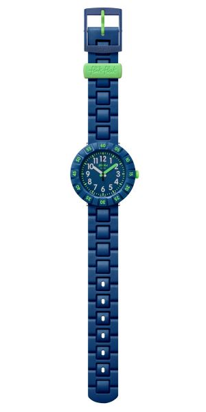 Flik Flak FCSP086 Jungen-Uhr Solo Dark Blue Analog Quarz Kunststoff-Armband Ø 36,70 mm