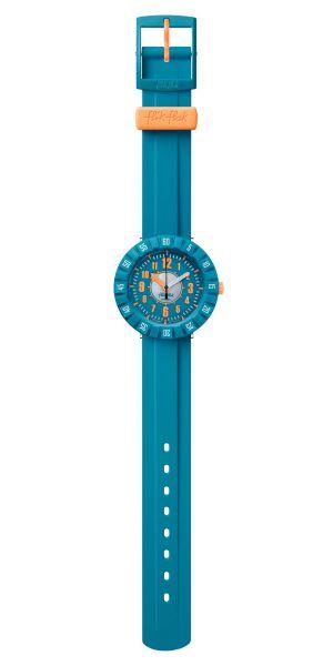 Flik Flak FCSP099 Jungen-Uhr Teal My Mind Analog Quarz Kunststoff-Armband Ø 36,70 mm