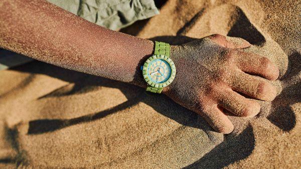 Flik Flak FCSP109 Jungen-Uhr Solo Wildicious Analog Quarz Silikon-Armband Ø 36,70 mm