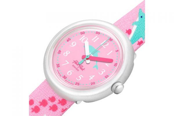 Flik Flak FPNP084 Mädchen-Uhr Fintasea Analog Quarz Textil-Armband Ø 31,85 mm