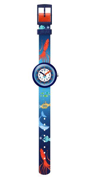 Flik Flak FPNP086 Jungen-Uhr Sea La Vie Analog Quarz Textil-Armband Ø 31,85 mm