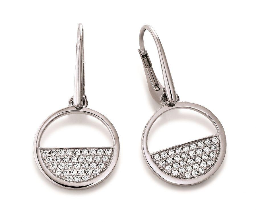 REFLEXION DIAMONDS Ohrschmuck 925 Silber rhodiniert 7 Zirkonia NEU 8944 UVP 29,
